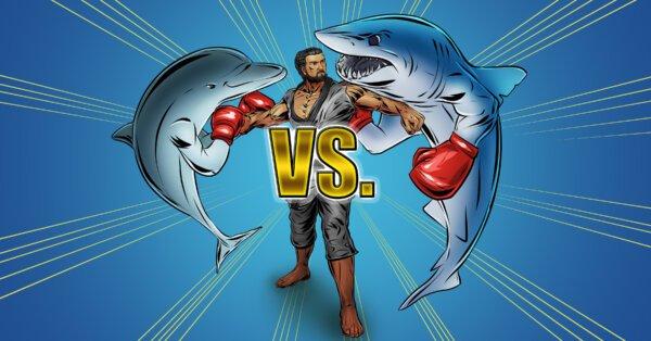SHARK VS. DOLPHIN